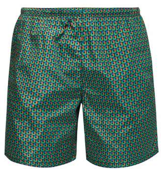 e5be61849a Prada Puma Geometric Print Swim Shorts - Mens - Green Multi