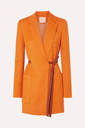 Roksanda Belted Grain De Poudre Blazer - Orange