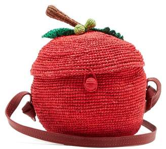 Sensi Studio - Apple Toquilla Straw Cross Body Bag - Womens - Red