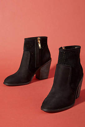 Anthropologie Perforated Heeled Booties