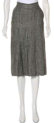 Christian Dior Knee-Length Tweed Skirt Black Knee-Length Tweed Skirt