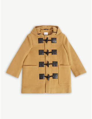 Burberry Letter patches wool-blend duffle coat 6-14 years