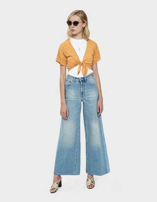 Which We Want Mili Knotted Ribbed Crop Top