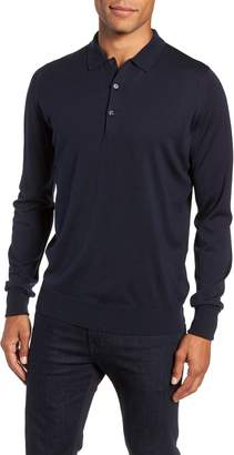John Smedley Slim Fit Long Sleeve Merino Polo