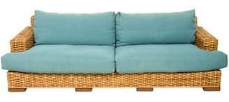 Ralph Lauren Woven Rattan Sofa