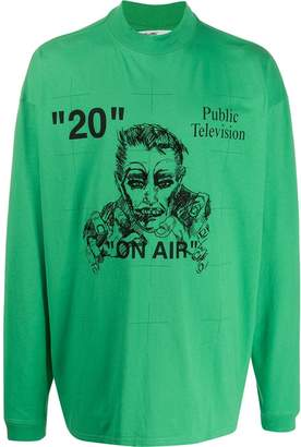 Off-White public television longsleeved T-shirt