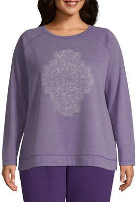 ST. JOHN'S BAY SJB ACTIVE Active Graphic Sweatshirt - Plus