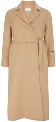 Marina Rinaldi Double-Breasted Belted Coat