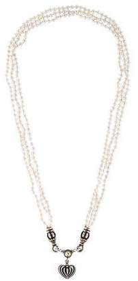 Lagos Pearl Strand Heart Pendant Necklace