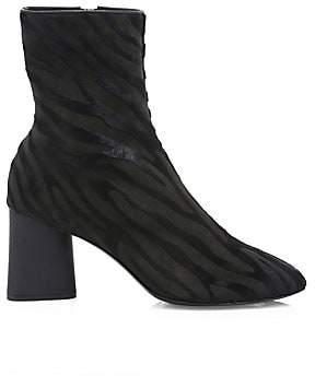 Rag & Bone Women's Fei Zebra-Stripe Calf Hair Ankle Boots