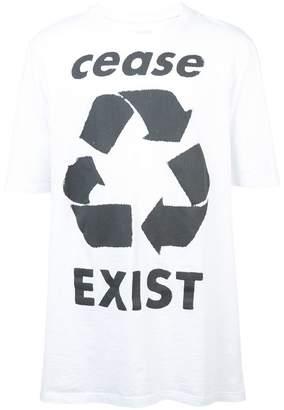 Faith Connexion 'Cease Exist' printed T-shirt