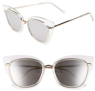 Cat Eye GLANCE EYEWEAR 55mm Clear Winged Sunglasses