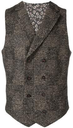 Manuel Ritz checked waistcoat