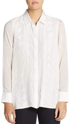 Robert Graham Women's Leila Silk Mixed-Lace Blouse