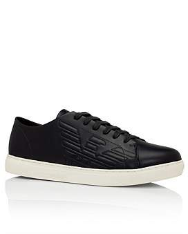 Emporio Armani Stan Lace Up Sneaker Embossed Eagle Logo