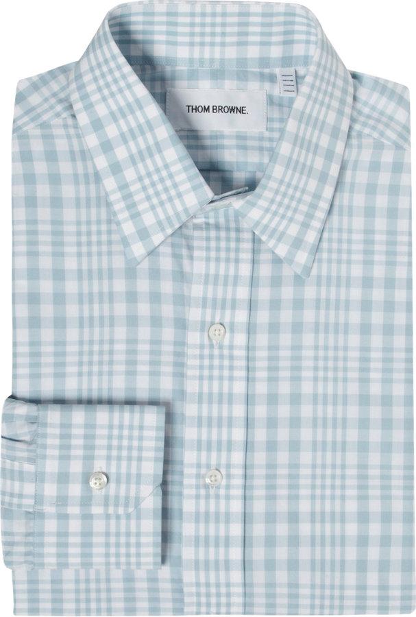 Thom Browne Bold Plaid Dress Shirt