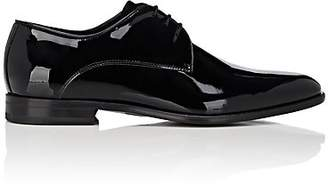 Barneys New York Men's Patent Leather & Velvet Bluchers - Black