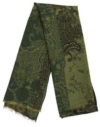 Etro Wool & Silk Printed Shawl