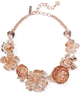 Rose Gold-plated Necklace - one size