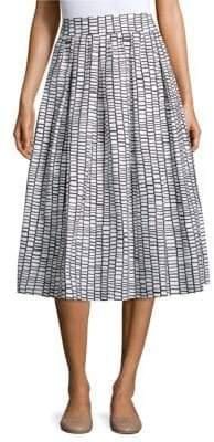 Peserico Tile-Print Midi Skirt