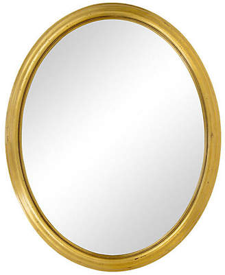 One Kings Lane Vintage Oval Mirror with Giltwood Moulded Frame - Janney's Collection