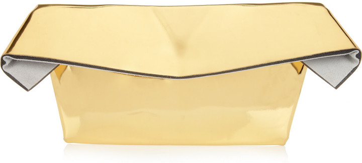Maison Martin Margiela Oversized padded metallic clutch