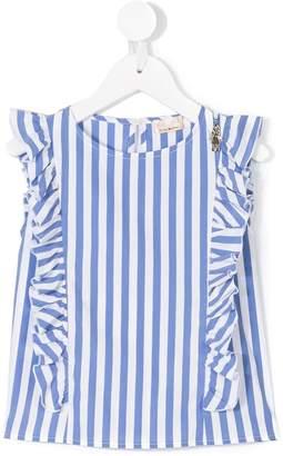 Elisabetta Franchi La Mia Bambina striped ruffled blouse