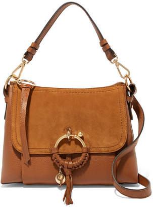 See by Chloe Joan Small Suede-paneled Textured-leather Shoulder Bag - Tan