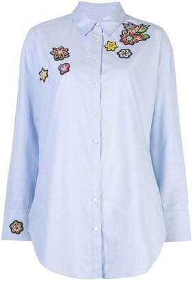 Cinq à Sept embroidered patch shirt