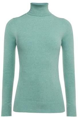 JoosTricot Roll Neck Cotton Blend Sweater - Womens - Green