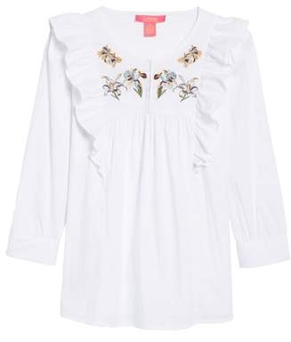 Catherine Catherine Malandrino Jan Embroidered Bib Blouse