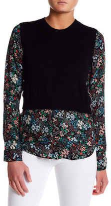 VERONICA BEARD Mellow Cashmere & Silk Shirt $450 thestylecure.com