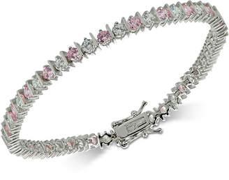 Giani Bernini Cubic Zirconia Pink Tennis Bracelet in Sterling Silver