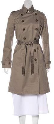 Gryphon Embellished Trench Coat