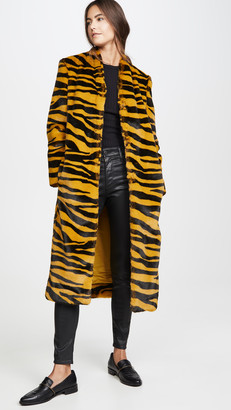 Mason by Michelle Mason Faux Fur Coat