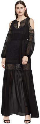 BCBGMAXAZRIA Farah Cold-Shoulder Maxi Dress