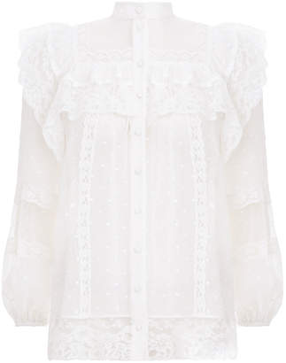 Zimmermann Moncur Lace Yoke Blouse