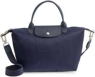 Longchamp 'Small Le Pliage Neo' Nylon Top Handle Tote