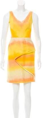 Lela Rose Sleeveless Ombré Dress