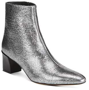 Vince Women's Lanica Metallic Leather Block Heel Booties