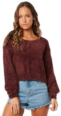 Somedays Lovin New Women's Easy Rolla Chenille Knit Soft Natural