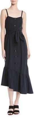 Derek Lam 10 Crosby Asymmetric Button-Front Cami Dress