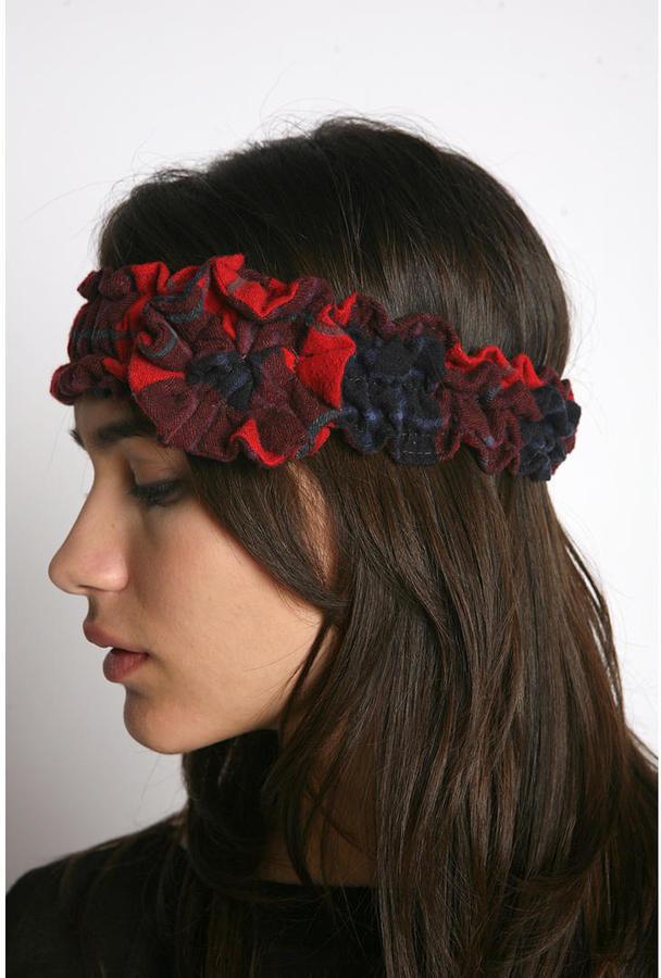 Urban Renewal Plaid Flannel Headband