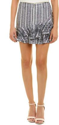 Parker Zoro Linen-Blend Skirt