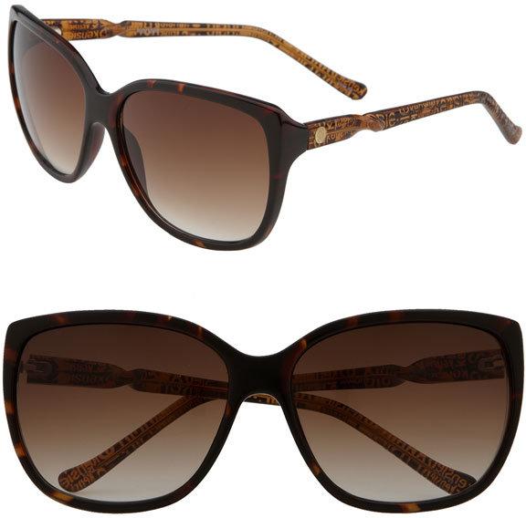Kensie 'Viola' Logo Temple Sunglasses