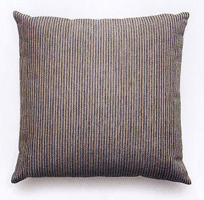 Maharam Chenille Stripe Pillow In Silver