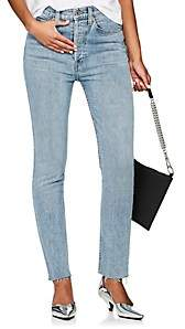 RE/DONE Women's High Rise Ankle Crop Jeans - Gray