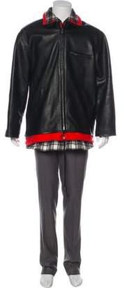 Balenciaga 2018 Oversize Layered Calfskin Leather Jacket