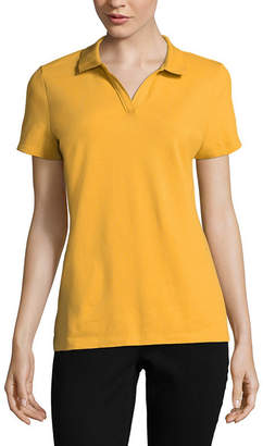 ST. JOHN'S BAY Short Sleeve Knit Polo Shirt - Petites