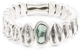 Uno de 50 Green Swarovski Crystal Handmade Reptile Elastic Bracelet